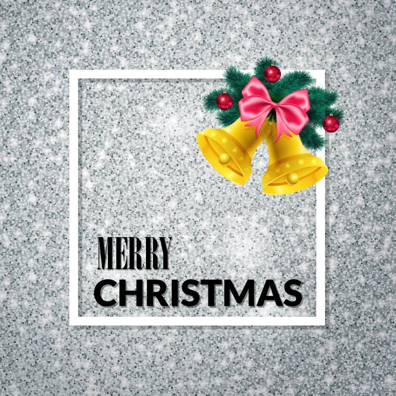 Feliz Navidad Fondo del día de fiesta Tarjeta de felicitación de Navidad cartel ilustración del vector