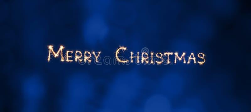 Feliz Navidad hermosa granangular de la tarjeta de felicitación fotografía de archivo