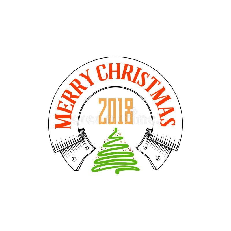 Download Feliz Navidad, Insignia De Navidad Con Las Letras Manuscritas Ilustración del Vector - Ilustración de tarjeta, caligráfico: 100534986