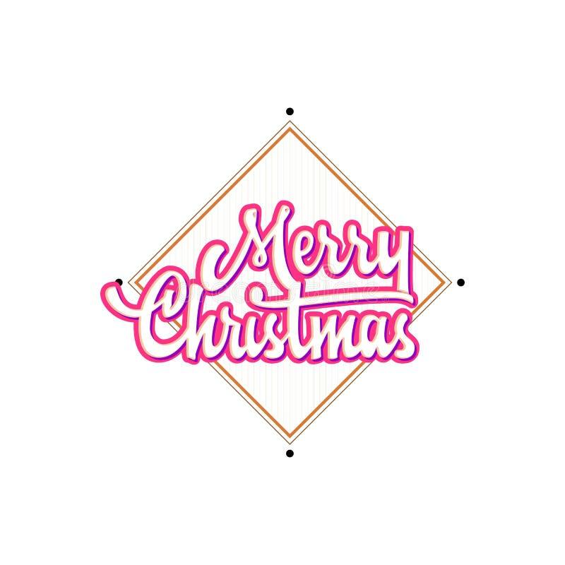 Download Feliz Navidad, Insignia De Navidad Con Las Letras Manuscritas Ilustración del Vector - Ilustración de holiday, gráfico: 100535282