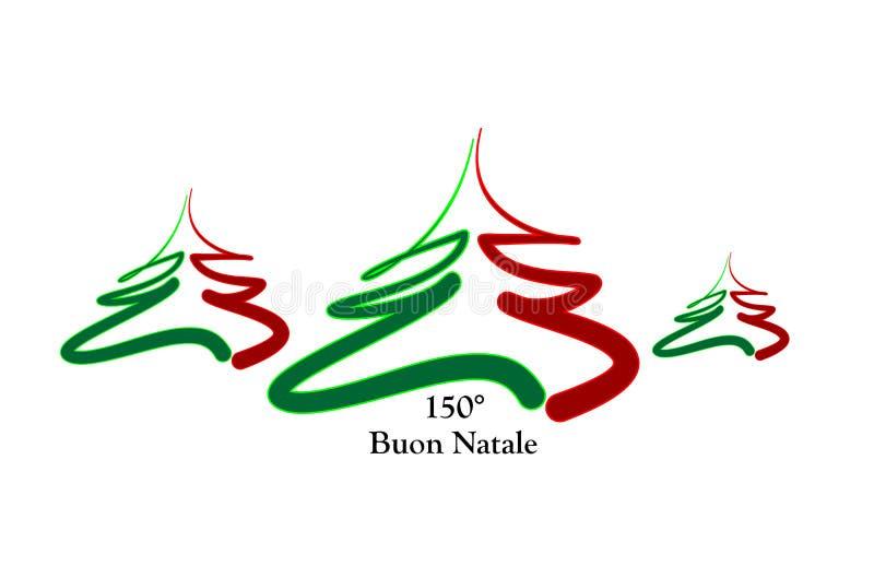 Feliz Navidad Italia ilustración del vector