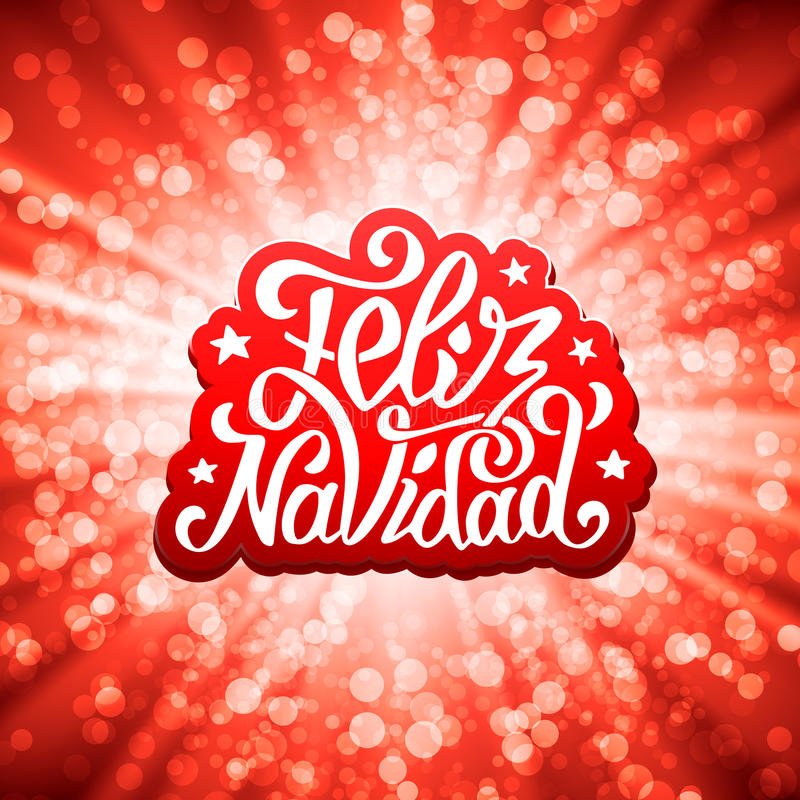 Feliz navidad lettering merry christmas greetings stock vector download feliz navidad lettering merry christmas greetings stock vector illustration of bokeh calligraphic m4hsunfo