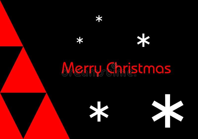 Feliz Navidad moderna ilustración del vector