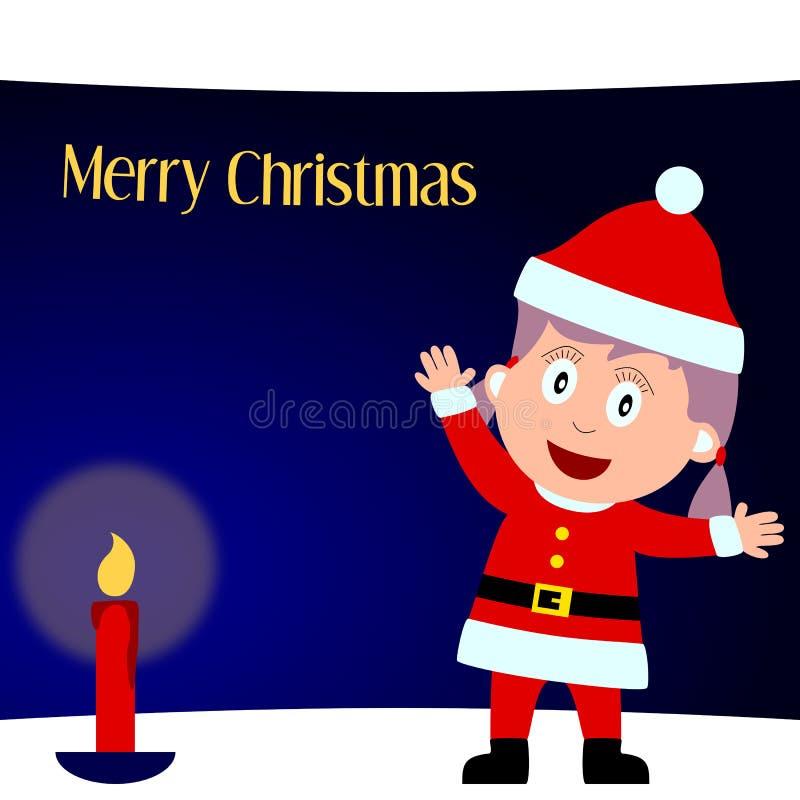 Feliz Navidad [muchacha 1] stock de ilustración