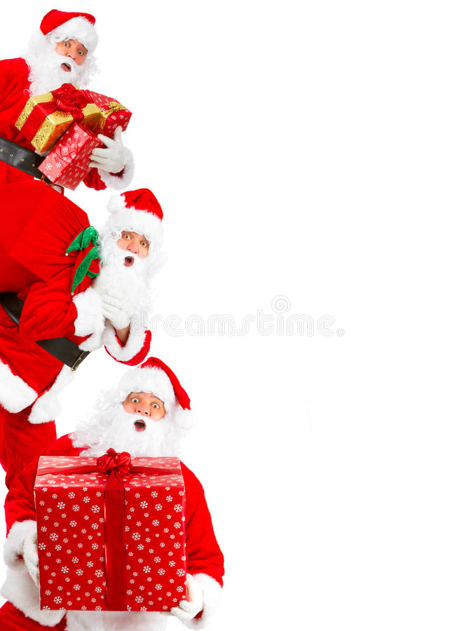 Feliz Navidad Santa foto de archivo