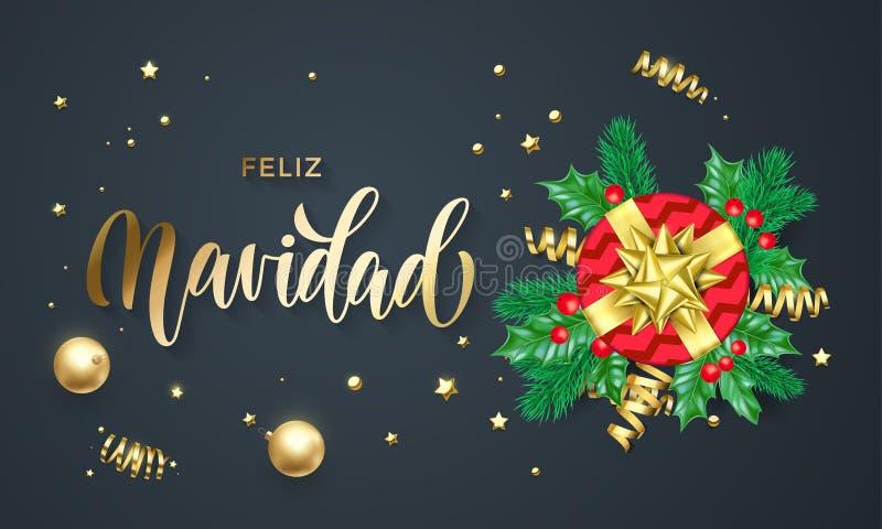 Feliz navidad spanish merry christmas holiday golden calligraphy and download feliz navidad spanish merry christmas holiday golden calligraphy and gold decoration greeting card template m4hsunfo Gallery