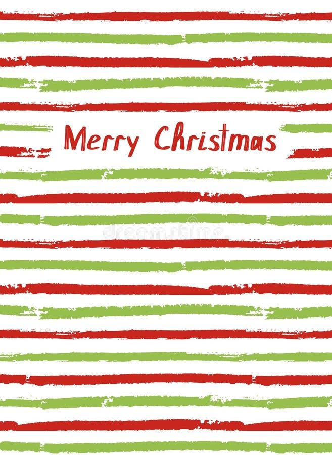 Feliz Navidad Tarjeta del vector, cubierta del sketchbook stock de ilustración
