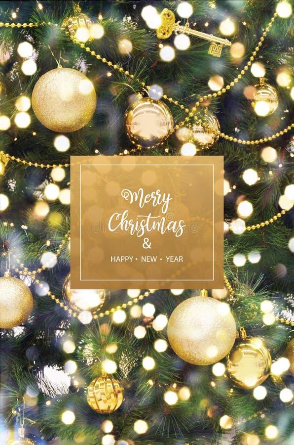 Feliz Navidad y Feliz Año Nuevo fotos de archivo
