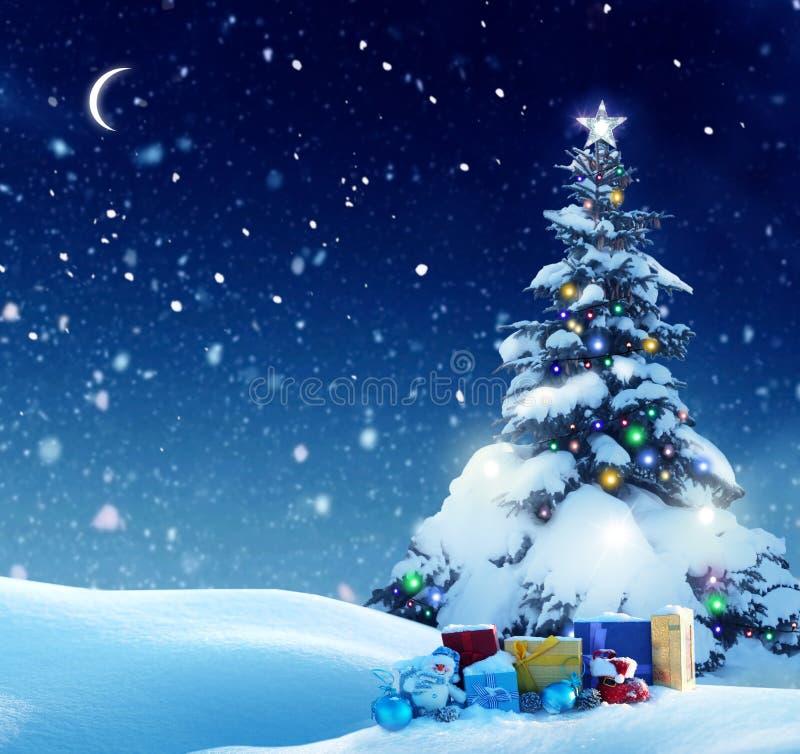 Feliz Navidad y Feliz Año Nuevo Ca de saludo imagen de archivo libre de regalías