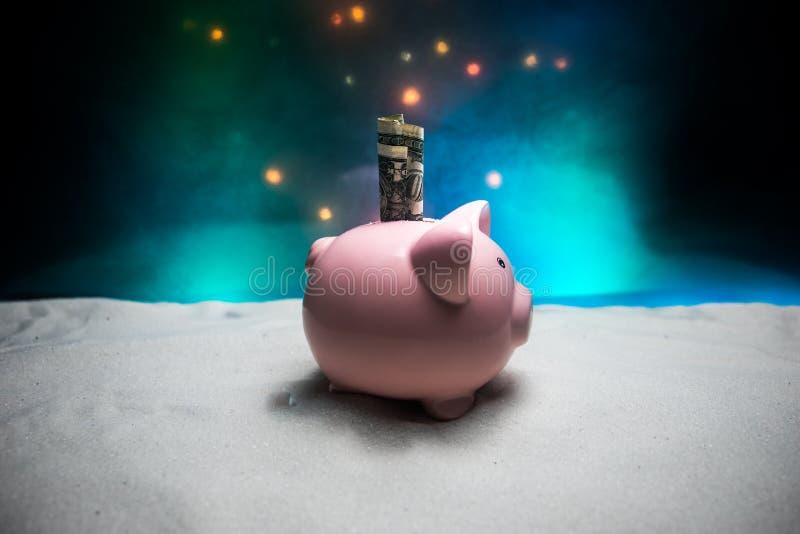 Feliz Navidad y Feliz Año Nuevo Año Nuevo chino del cerdo, símbolo 2019 para la tarjeta de felicitaciones Foco selectivo suave Ce fotos de archivo