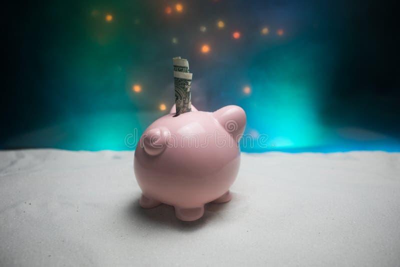 Feliz Navidad y Feliz Año Nuevo Año Nuevo chino del cerdo, símbolo 2019 para la tarjeta de felicitaciones Foco selectivo suave Ce imagenes de archivo