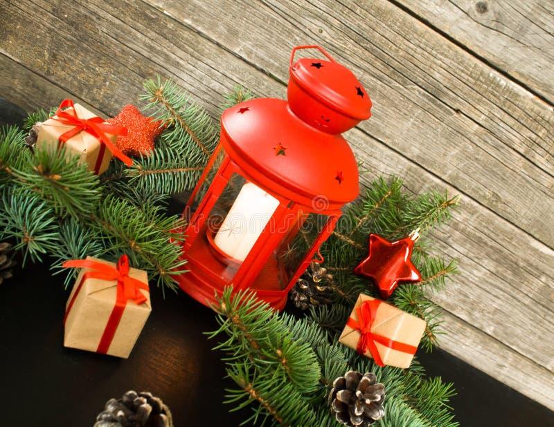 Feliz Navidad y Feliz Año Nuevo Concepto rústico fotos de archivo libres de regalías