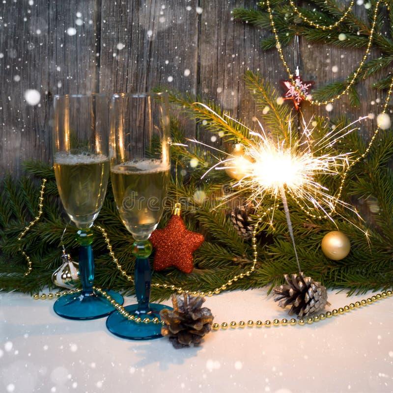 Feliz Navidad y Feliz Año Nuevo Fondo imagenes de archivo
