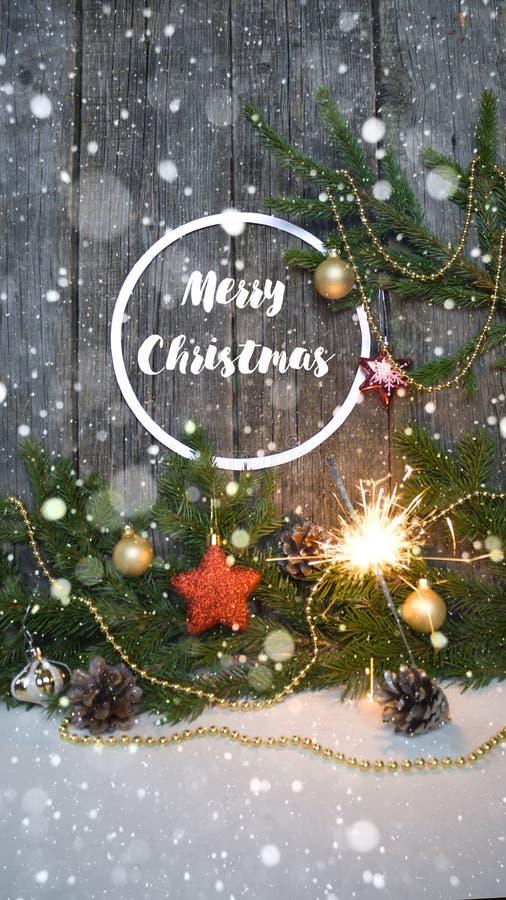Feliz Navidad y Feliz Año Nuevo Fondo imagen de archivo libre de regalías