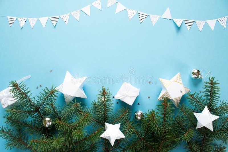 Feliz Navidad y Feliz Año Nuevo Fondo para una tarjeta de la invitación o una enhorabuena imagen de archivo libre de regalías