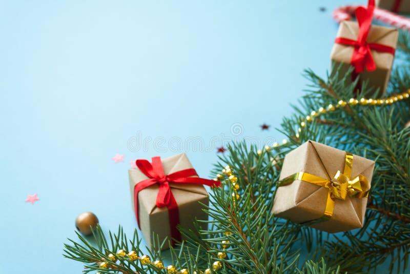 Feliz Navidad y Feliz Año Nuevo Fondo para una tarjeta de la invitación o una enhorabuena fotos de archivo