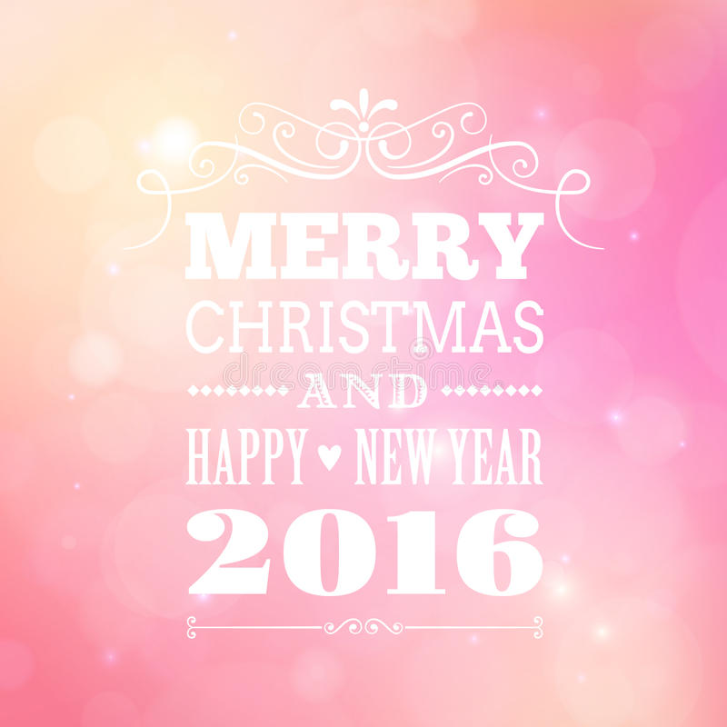 Feliz Navidad y cartel 2016 de la Feliz Año Nuevo libre illustration