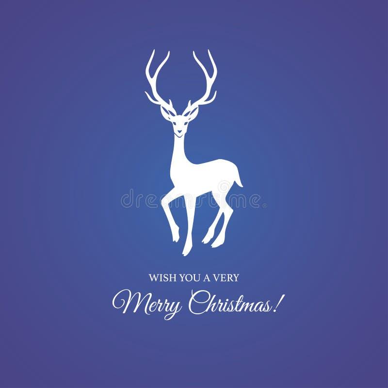 Feliz Navidad y ciervos festivos ilustración del vector