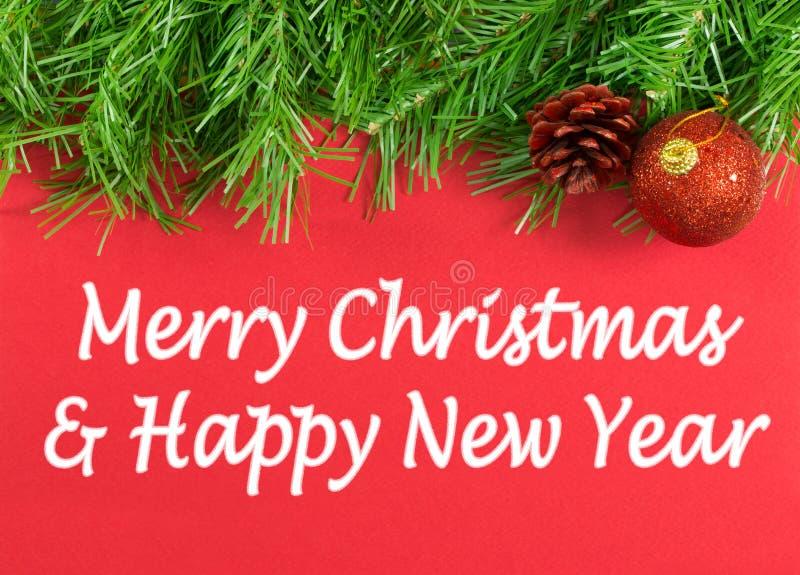 Feliz Navidad y Feliz Año Nuevo fotos de archivo libres de regalías
