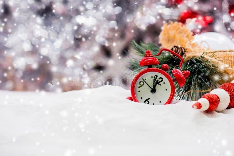 Feliz Navidad y Feliz Año Nuevo, concepto e idea para el decorat imagenes de archivo