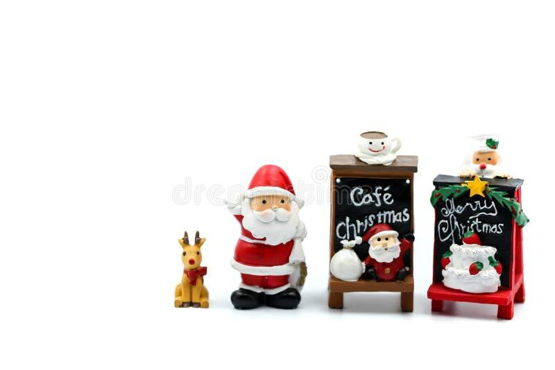 Feliz Navidad y gente miniatura de la Feliz Año Nuevo: Niños w foto de archivo