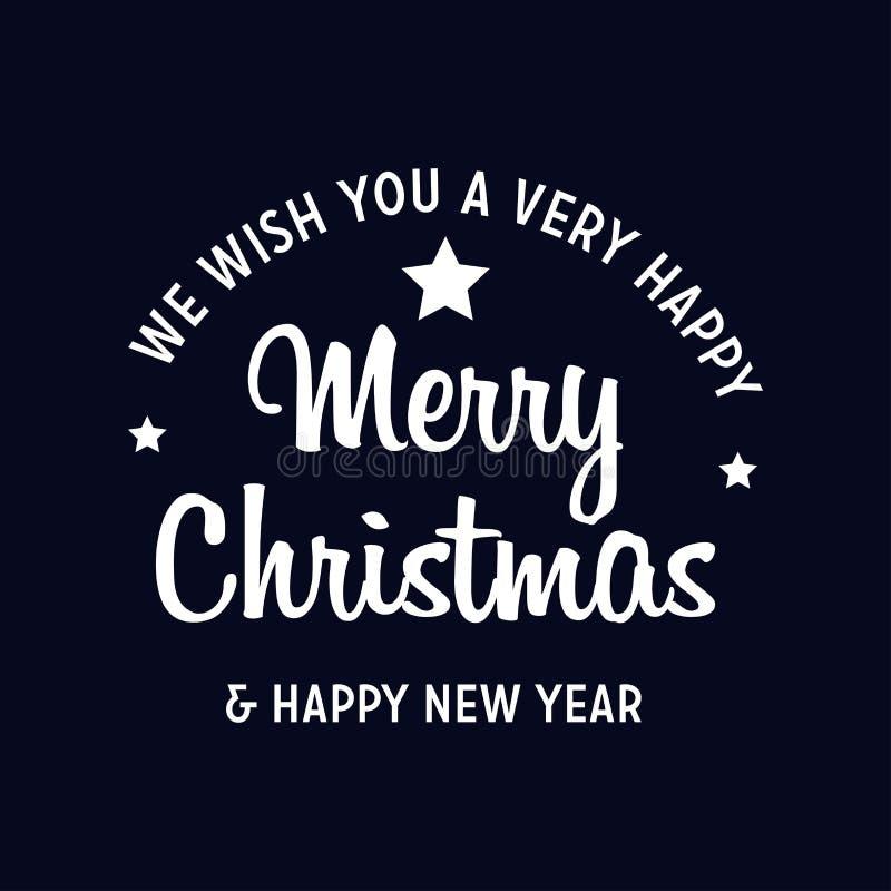 Feliz Navidad y Feliz A?o Nuevo 2019 ilustración del vector