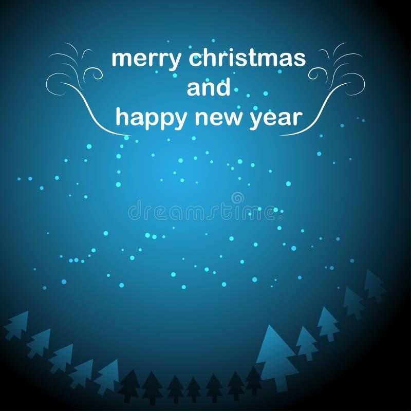 Feliz Navidad y Feliz A?o Nuevo stock de ilustración