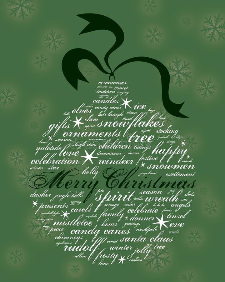 Feliz Navidad y otras palabras del día de fiesta fotografía de archivo
