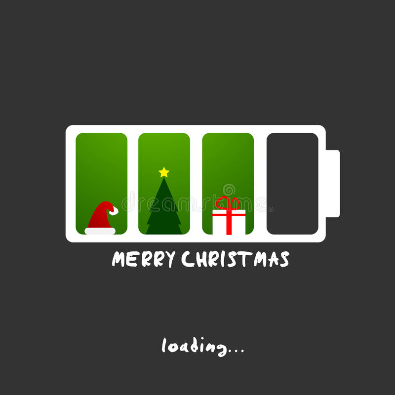Feliz Navidad y tarjeta de felicitación del Año Nuevo stock de ilustración