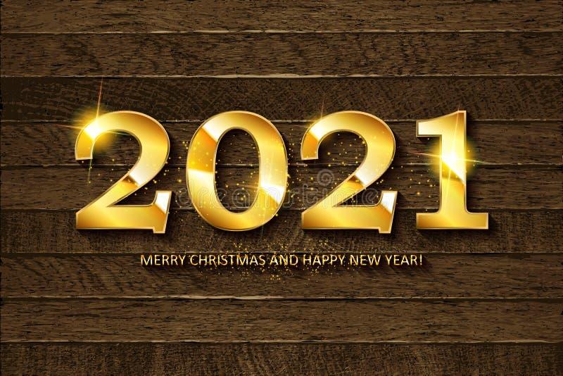Feliz A?o Nuevo 2020 stock de ilustración
