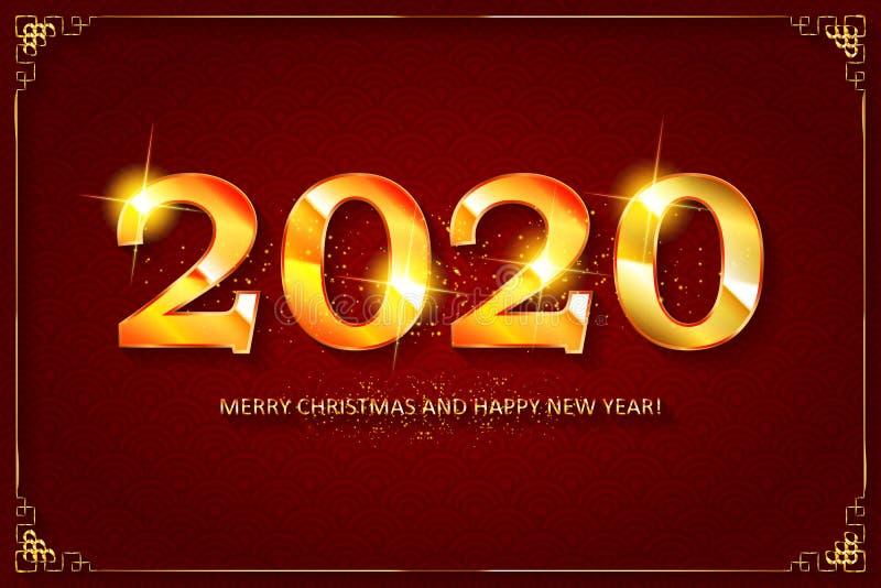 Feliz A?o Nuevo 2020 libre illustration