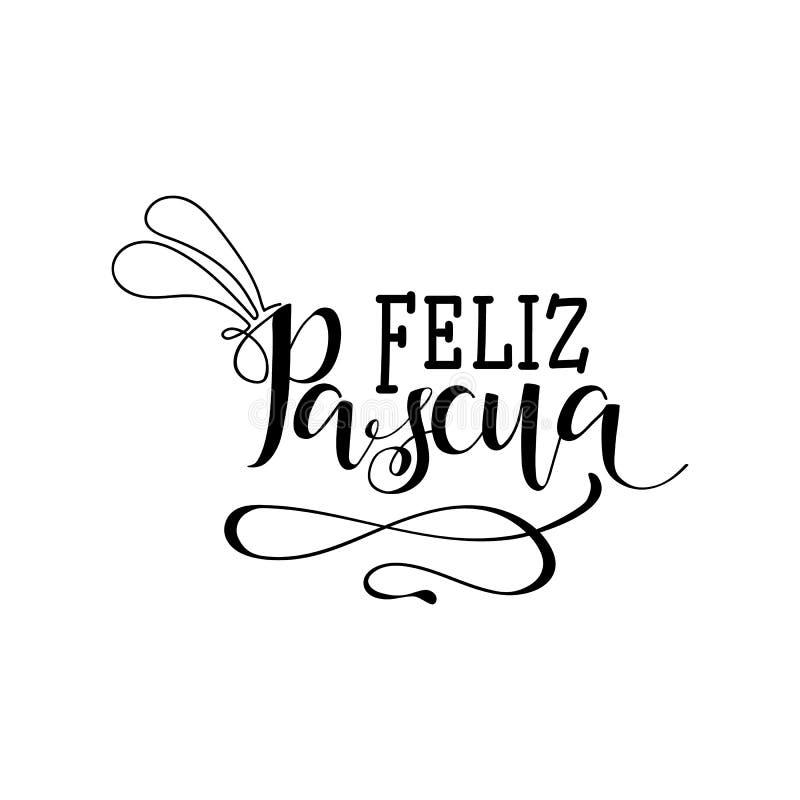 Feliz Pascua literowanie Przekład od hiszpańszczyzn: Szczęśliwa wielkanoc ilustracji