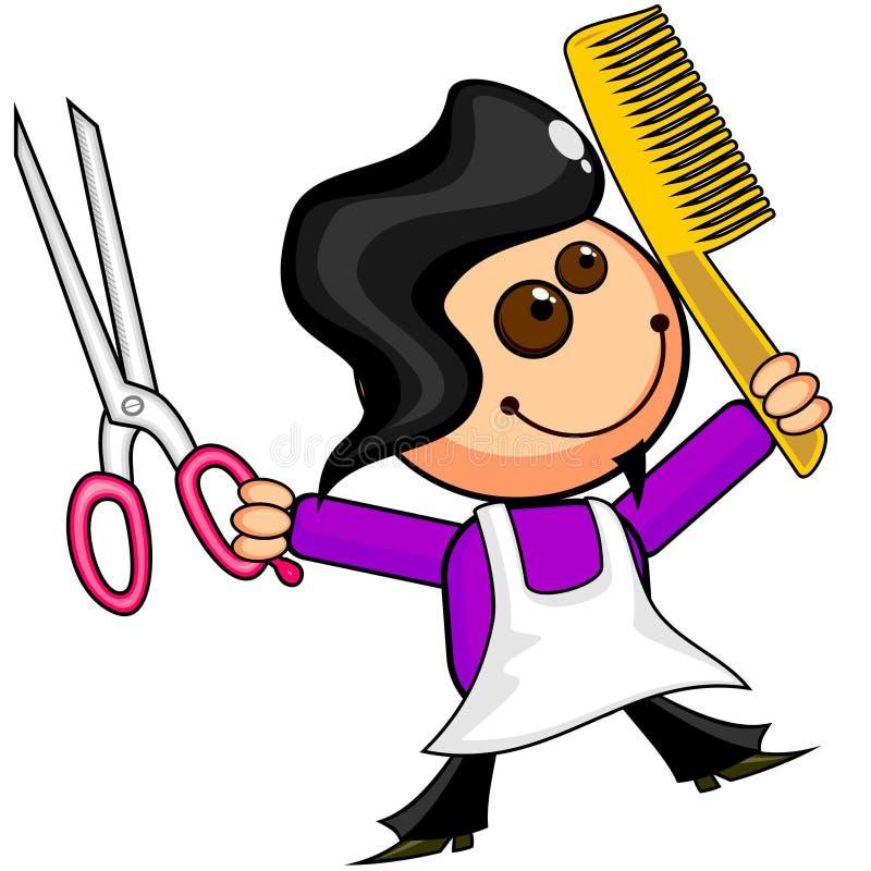 Feliz peluquero stock de ilustración