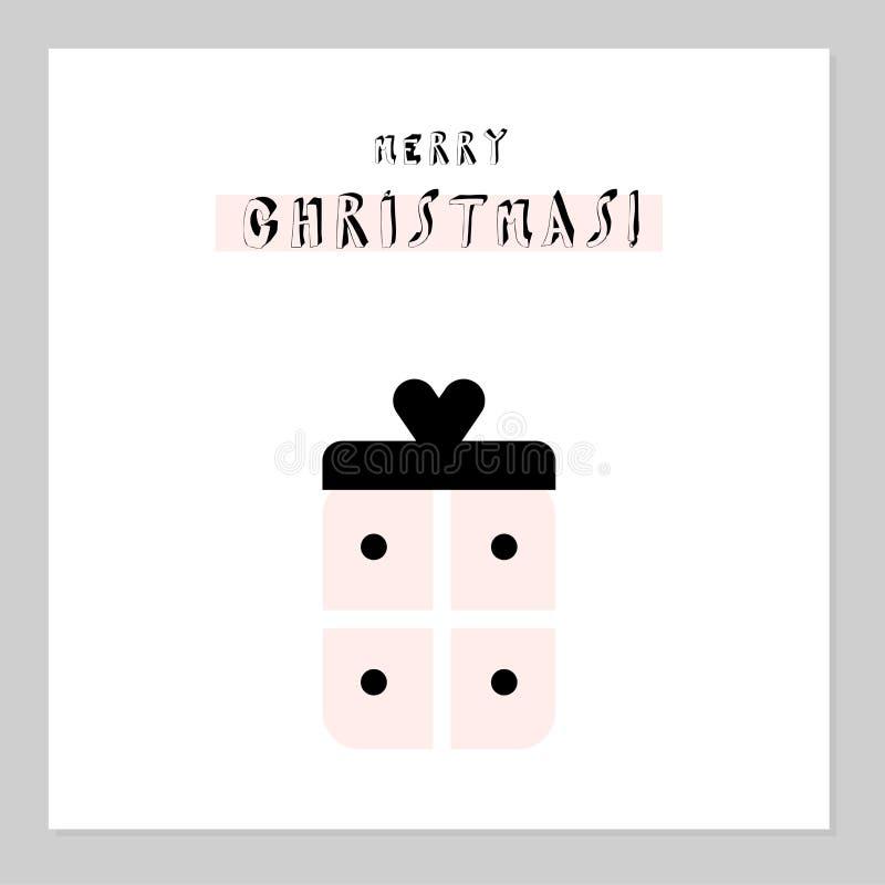 Feliz regalo de Navidad ilustración del vector
