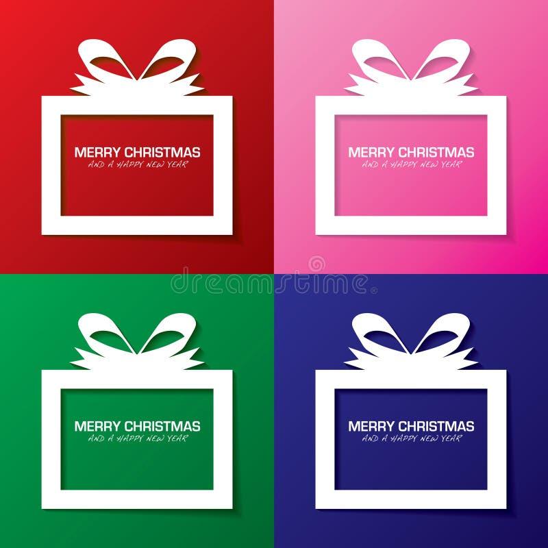 Feliz regalo de Navidad libre illustration