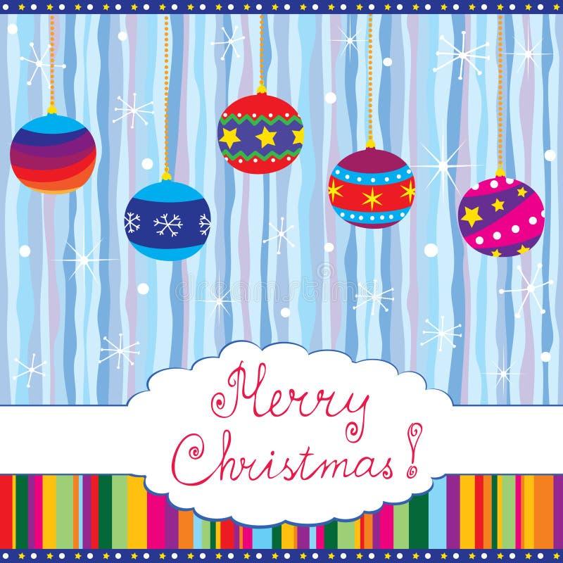 Feliz tarjeta de Navidad libre illustration