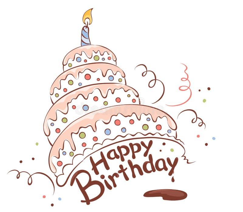 Feliz torta libre illustration