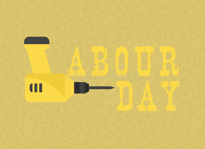 Feliz trabalhe a celebração do dia Feliz trabalhe o molde do cartão ou do cartaz ou do inseto do dia Feliz trabalhe o projeto do  ilustração stock