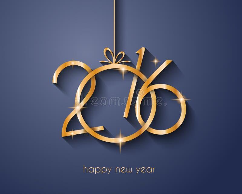 2016 Felizes Natais e fundo do ano novo feliz ilustração royalty free