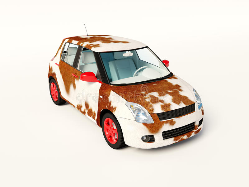 Fell car. On white background stock photography