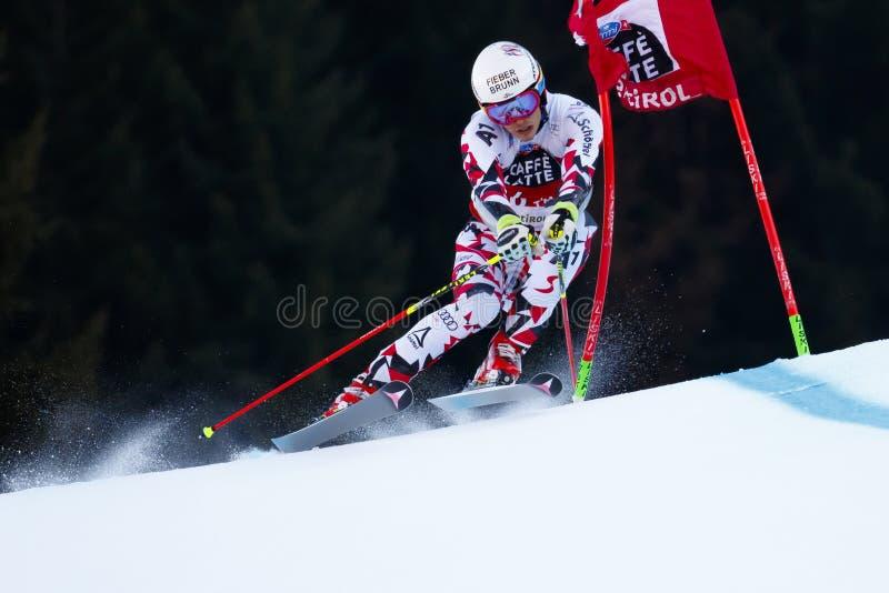 FELLER Manuel nel gigante di Men's della tazza di Audi Fis Alpine Skiing World immagini stock