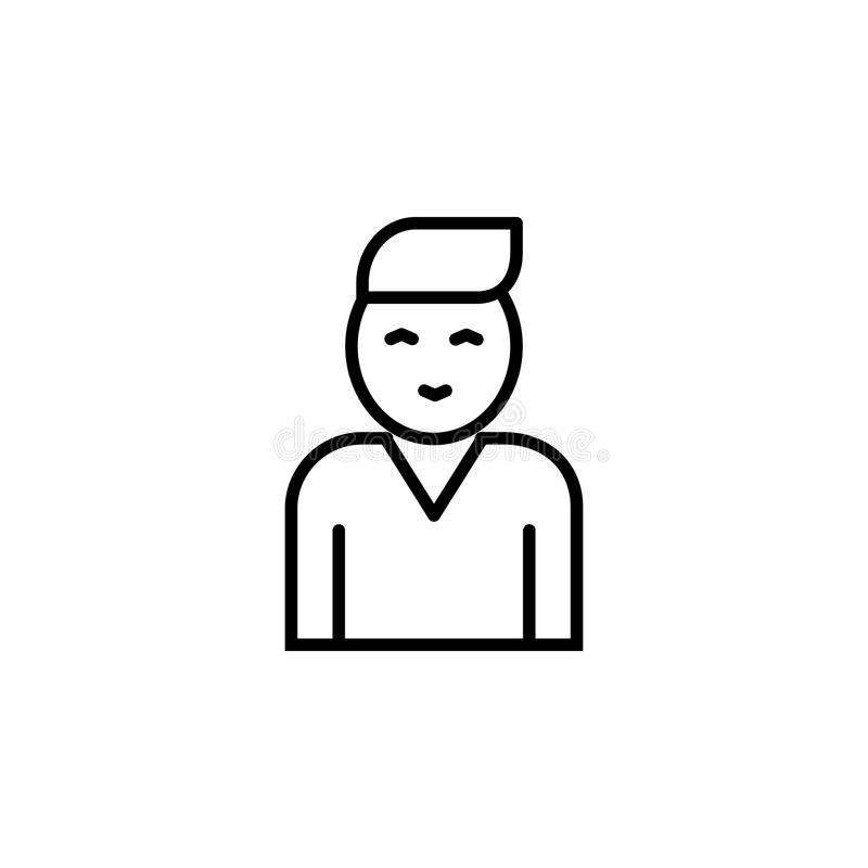 Fellow employee. Element of job interview icon for mobile concept and web apps. Thin line fellow employee can be used for web and. Mobile on white background stock illustration
