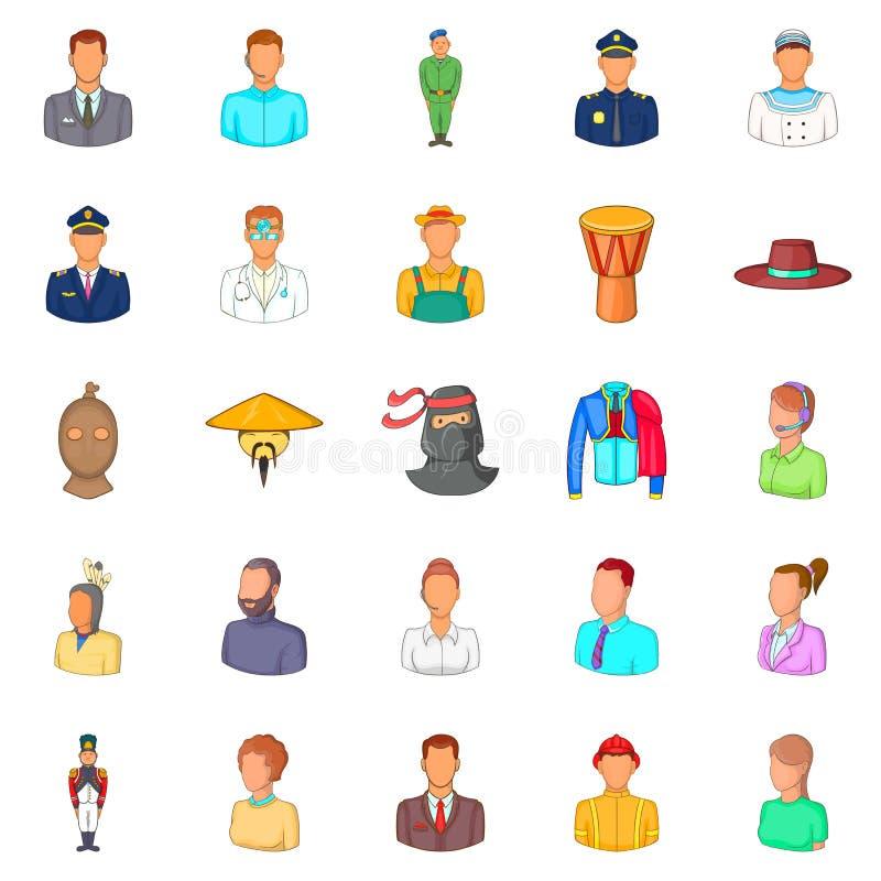 Fellow icons set, cartoon style. Fellow icons set. Cartoon set of 25 fellow vector icons for web isolated on white background stock illustration