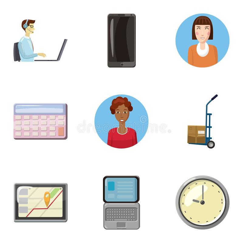 Fellow worker icons set, cartoon style. Fellow worker icons set. Cartoon set of 9 fellow worker vector icons for web isolated on white background vector illustration