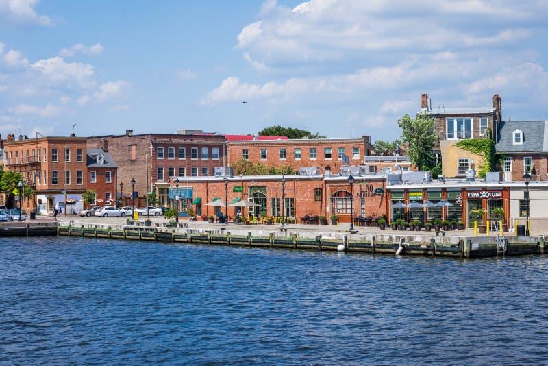 Fells de Waterkant van het Puntkanton in Baltimore, Maryland royalty-vrije stock afbeelding
