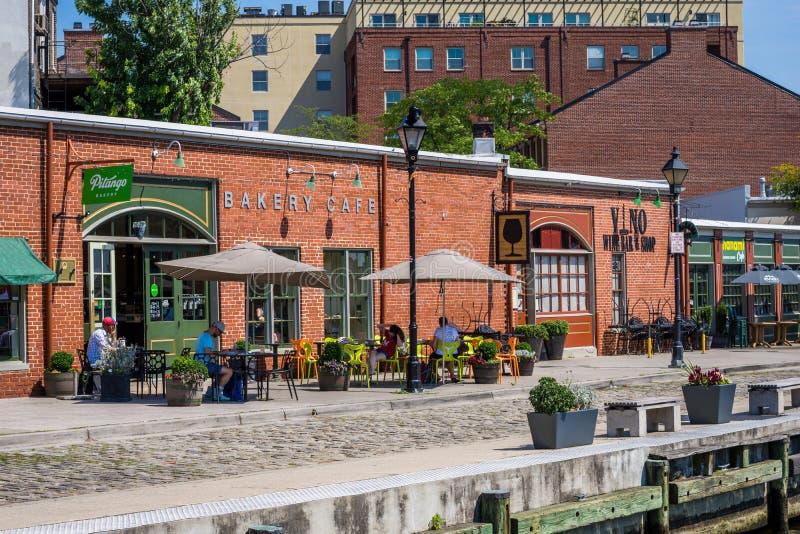 Fells de Waterkant van het Puntkanton in Baltimore, Maryland royalty-vrije stock foto's