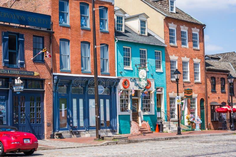 Fells de Waterkant van het Puntkanton in Baltimore, Maryland royalty-vrije stock foto
