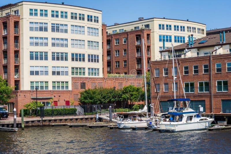 Fells de Waterkant van het Puntkanton in Baltimore, Maryland royalty-vrije stock fotografie