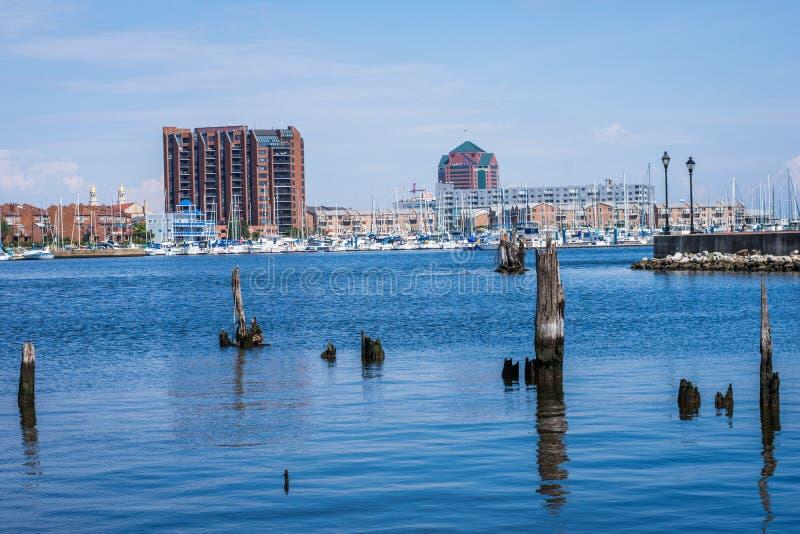 Fells de Waterkant van het Puntkanton in Baltimore, Maryland stock afbeelding
