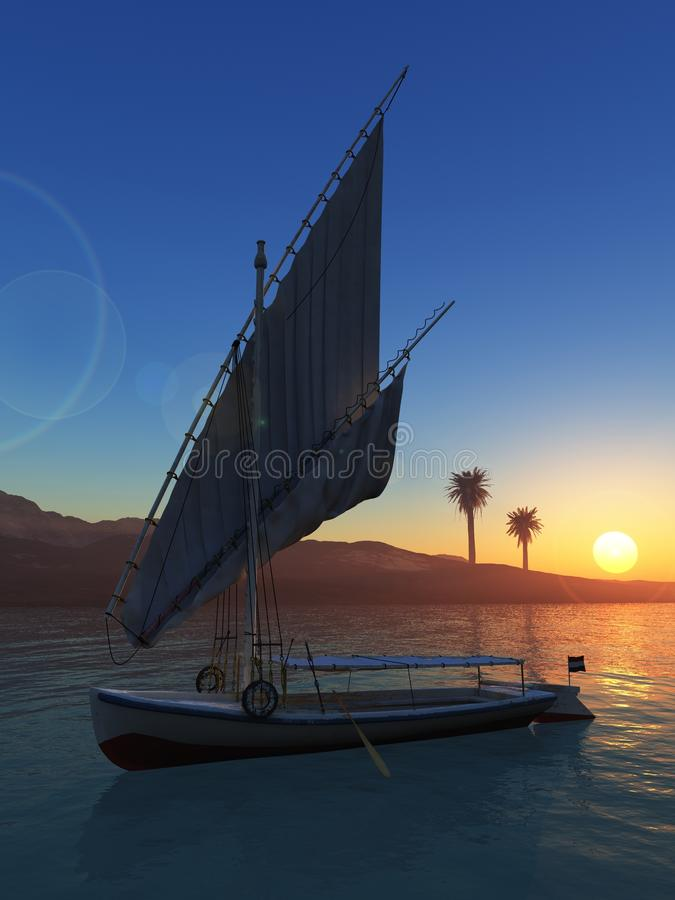 Download Felluca with folded sail stock photo. Image of backdrop - 24079414
